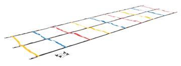 Imagem de Escada Regulável Dupla para Treinamento de Agilidade – 4 m