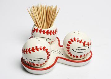 Imagem de Conjunto de Saleiro, Pimenteiro e Paliteiro de Bola de Tênis