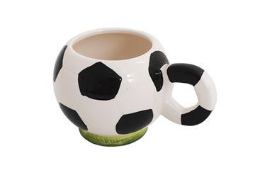 Imagem de Caneca em Porcelana Bola de Futebol - 300 ml
