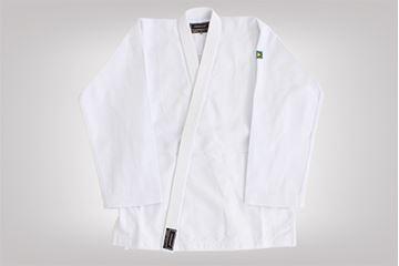 Imagem de Kimono Judô Trançadinho Adulto Branco – A3