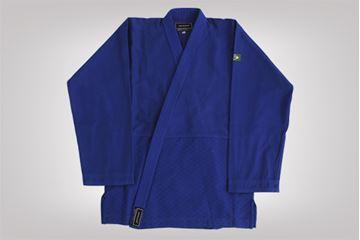 Imagem de Kimono Judô Trançadinho Adulto Azul – A2