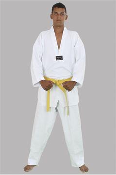 Imagem de Dobok Leve Adulto Branco com Gola Branca – A1