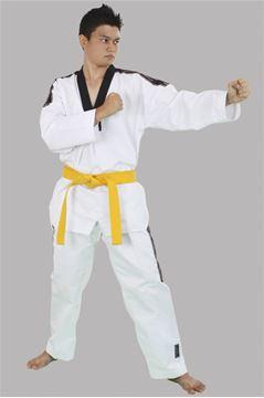 Imagem de Dobok Champ Adulto Branco com Gola Preta – A2
