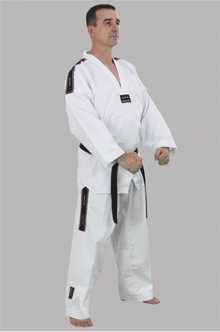 Imagem de Dobok Canelado Branco com Gola Branca – M0