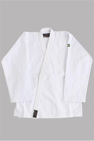 Imagem de Kimono Judô Trançadinho Adulto Branco – A4