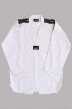 Imagem de Dobok Canelado Branco com Gola Branca – M1