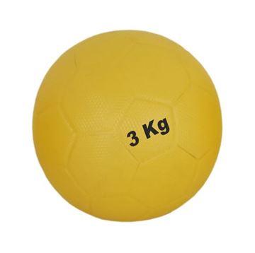 Imagem de Bola Medicineball de Couro – 3 Kg