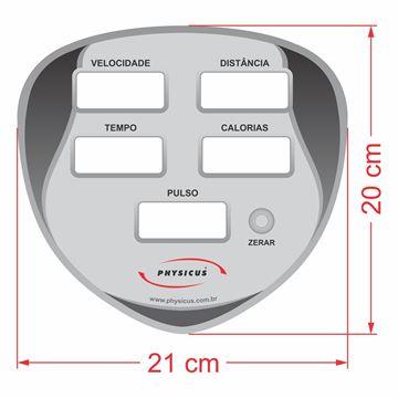 Imagem de Adesivo para  Painel da Linha Classic Modelo 2 Painel Rotomoldado Preto