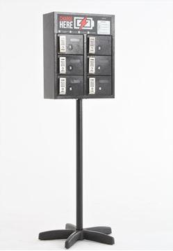 Imagem de Box Charge 06 Portas Com Fechadura Eletrônica e Pés de Suporte